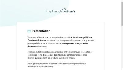 Site internet de The French Talents