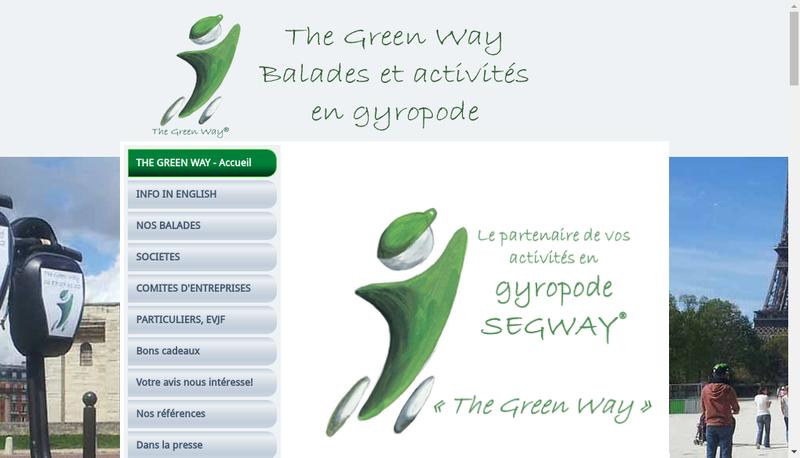 Capture d'écran du site de The Green Way