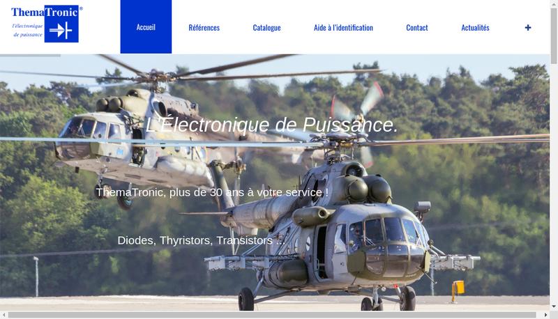 Capture d'écran du site de SARL Thematronic