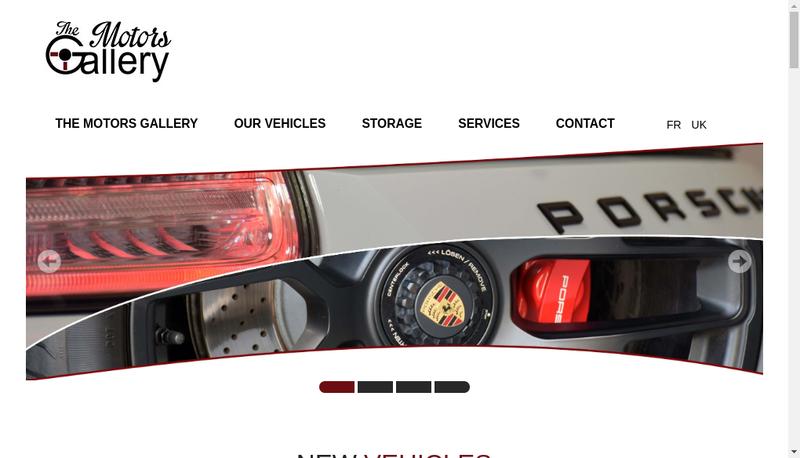 Site internet de The Motors Gallery