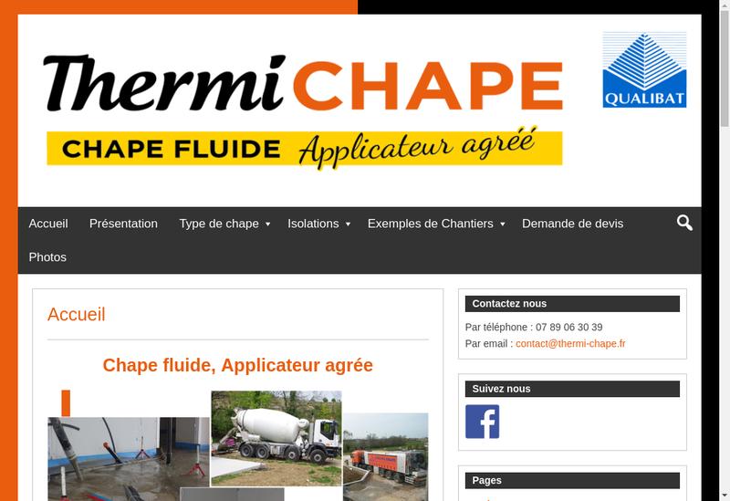 Capture d'écran du site de Thermi Chape