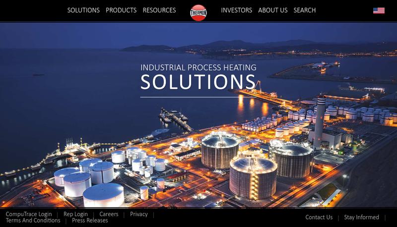 Capture d'écran du site de Thermon France