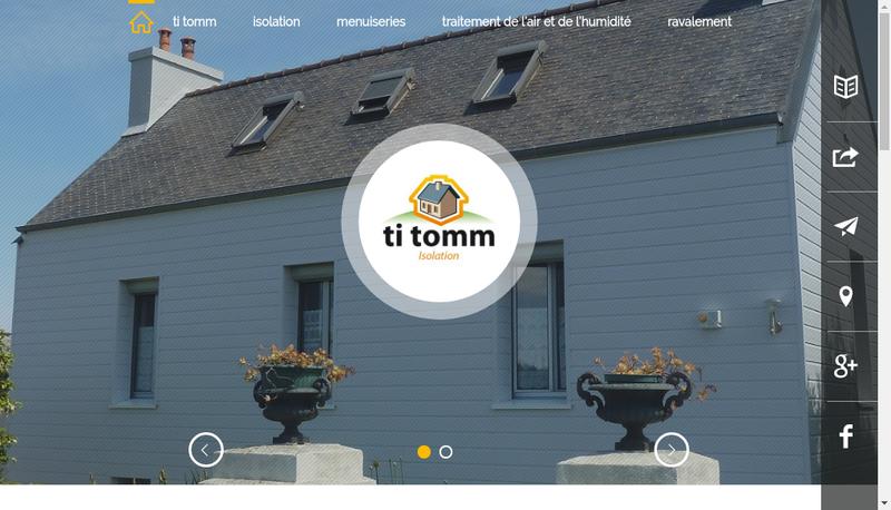 Capture d'écran du site de Ti Tomm