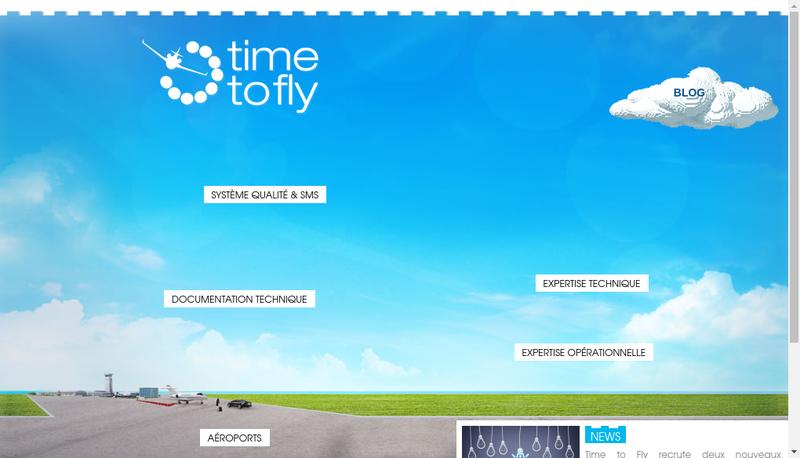 Capture d'écran du site de Time To Fly