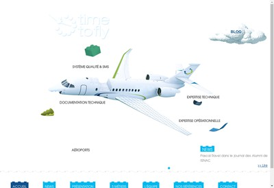 Site internet de Time To Fly