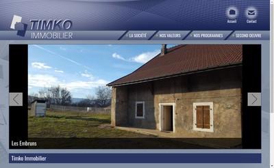 Site internet de Timko Immobilier