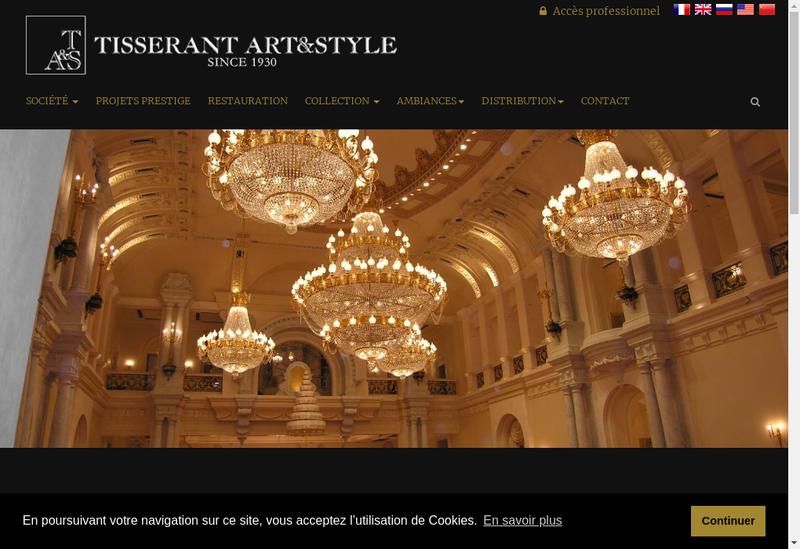 Capture d'écran du site de Art et Style
