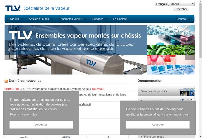 Capture d'écran du site de Tlv Euro Engineering France SARL