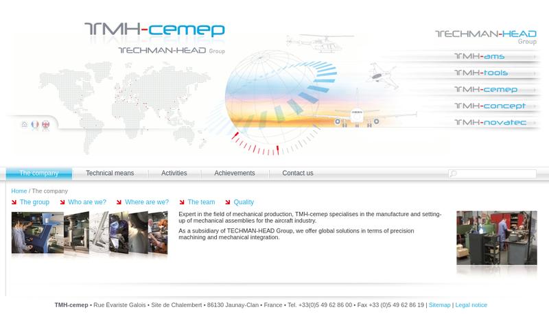 Capture d'écran du site de Tmh-Cemep