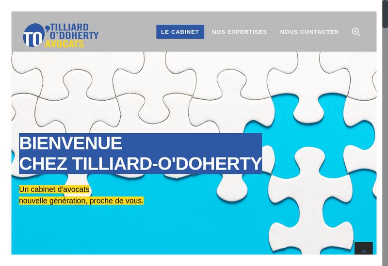 Capture d'écran du site de TILLIARD - O'DOHERTY