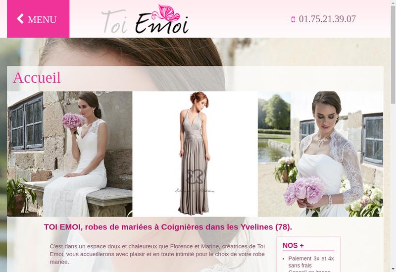 Capture d'écran du site de Toi Emoi