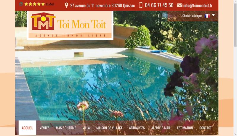 Capture d'écran du site de Toi Mon Toit