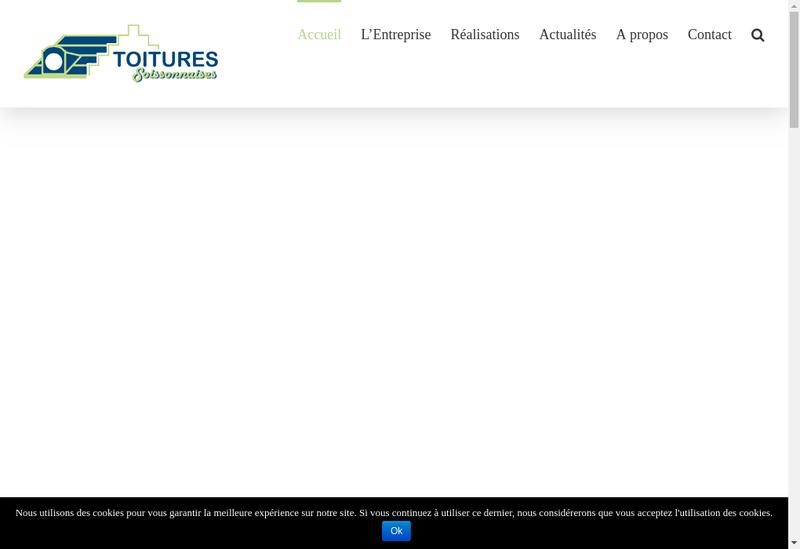 Capture d'écran du site de Toitures Soissonnaises