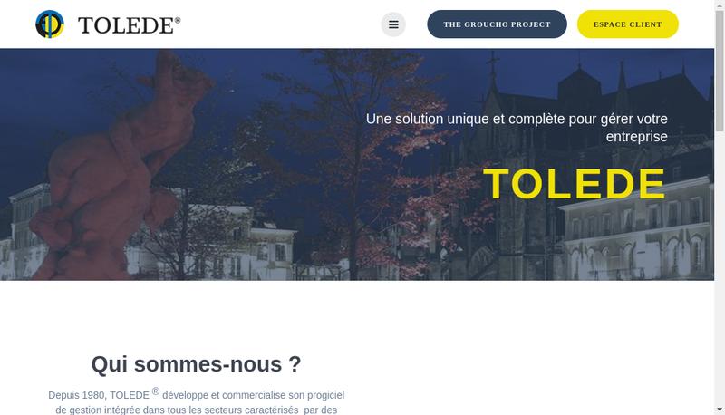 Capture d'écran du site de Tolede