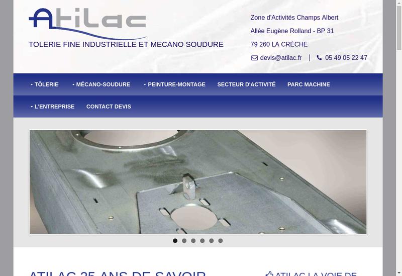 Capture d'écran du site de Atilac