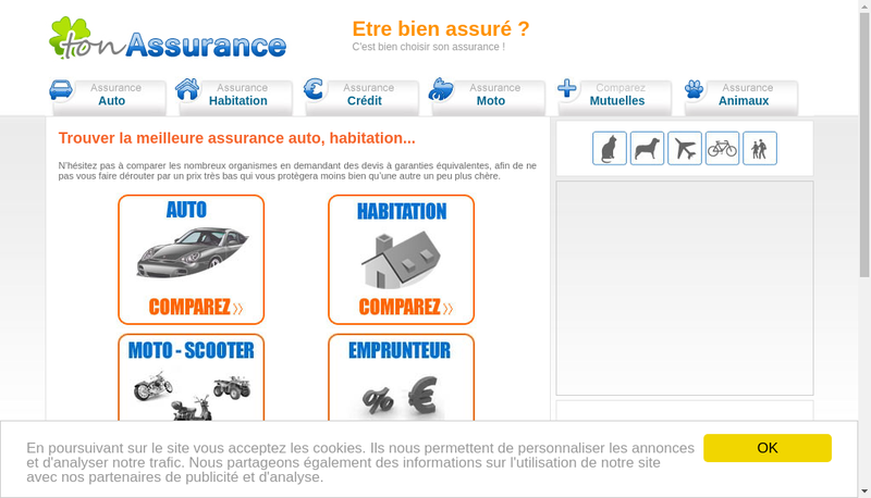 Capture d'écran du site de Sudassur