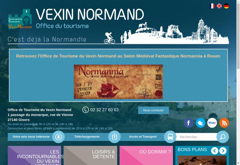 Capture d'écran du site de Gisor