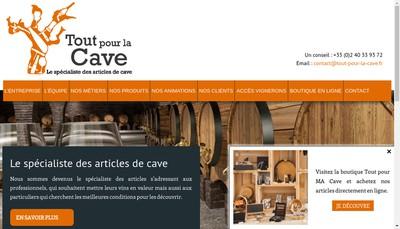 Site internet de Tout pour la Cave