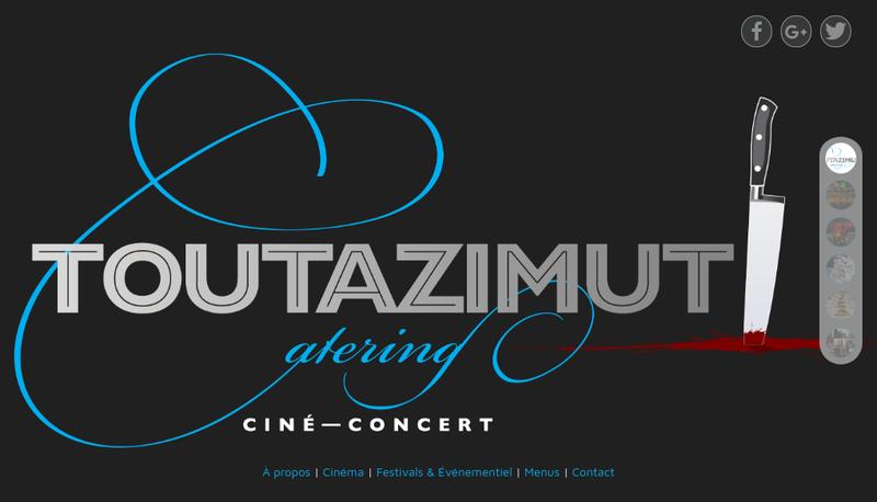Capture d'écran du site de Toutazimut