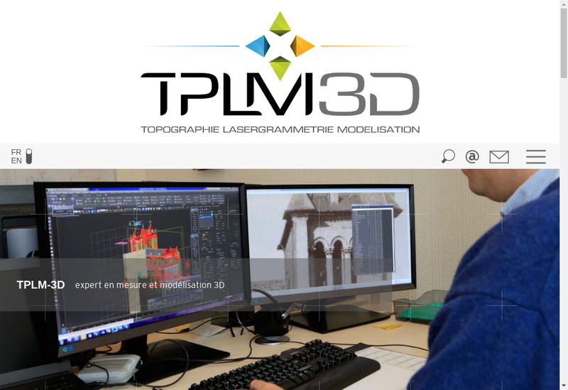Capture d'écran du site de Tplm - 3D