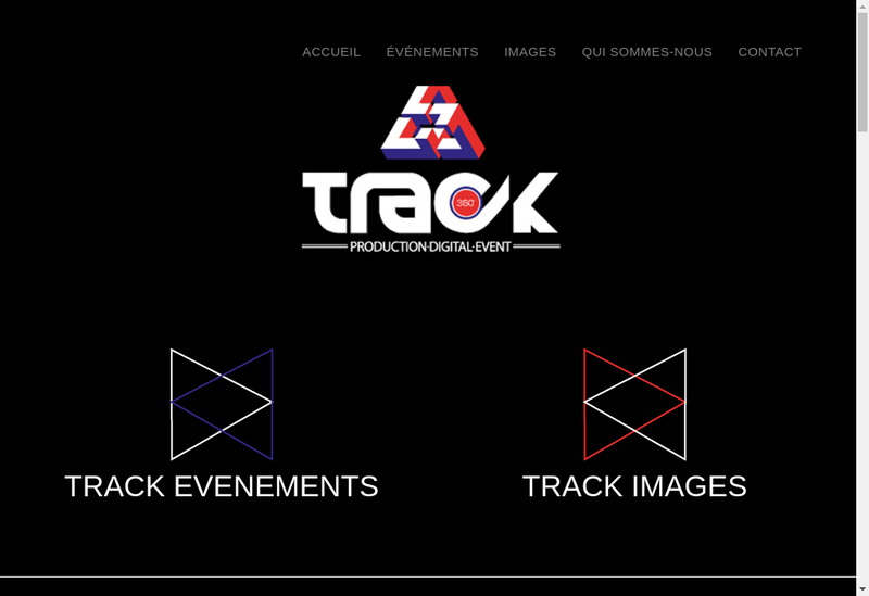 Capture d'écran du site de Track 360 Production