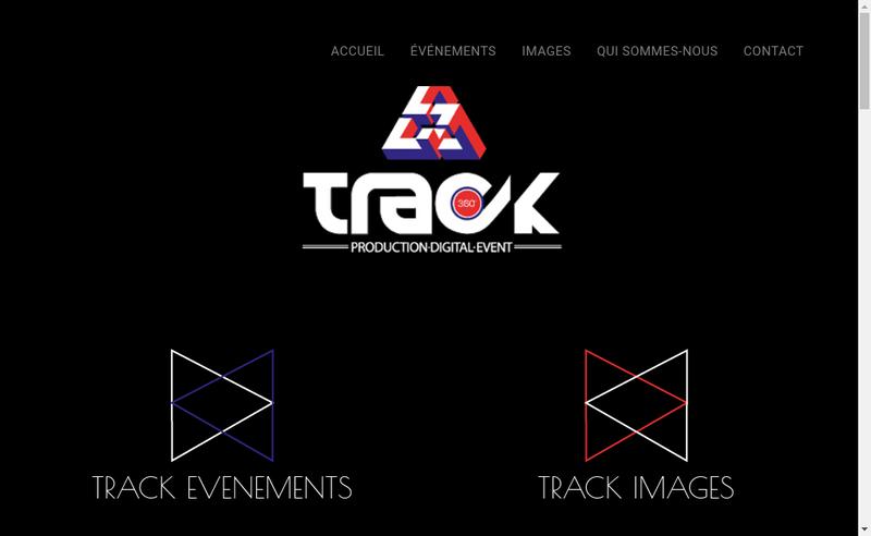 Capture d'écran du site de Track 360 Production