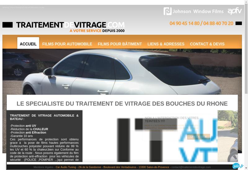 Capture d'écran du site de Car Audio Tuning