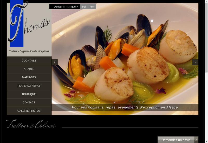 Capture d'écran du site de Maison Thomas