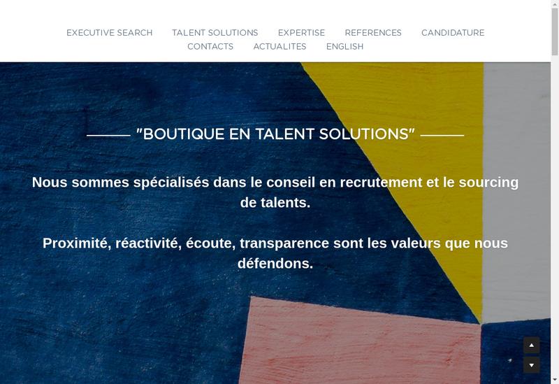 Capture d'écran du site de LG Consulting