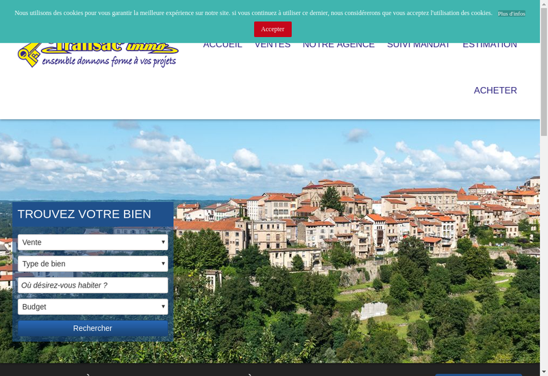 Capture d'écran du site de Transac Immo