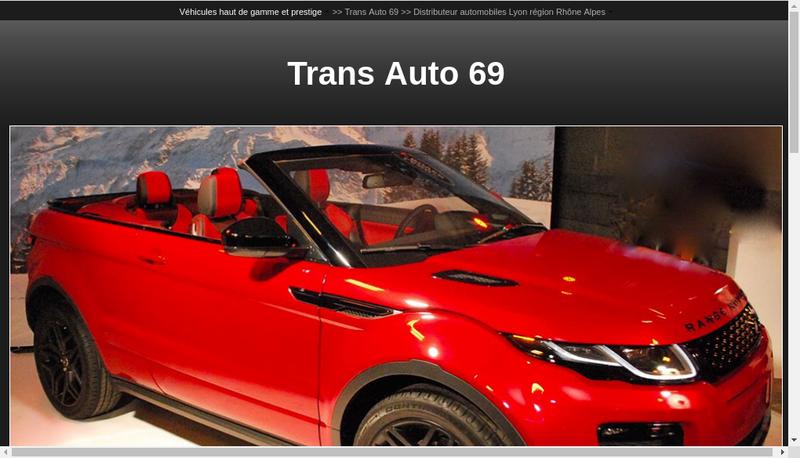 Capture d'écran du site de Trans Auto 69