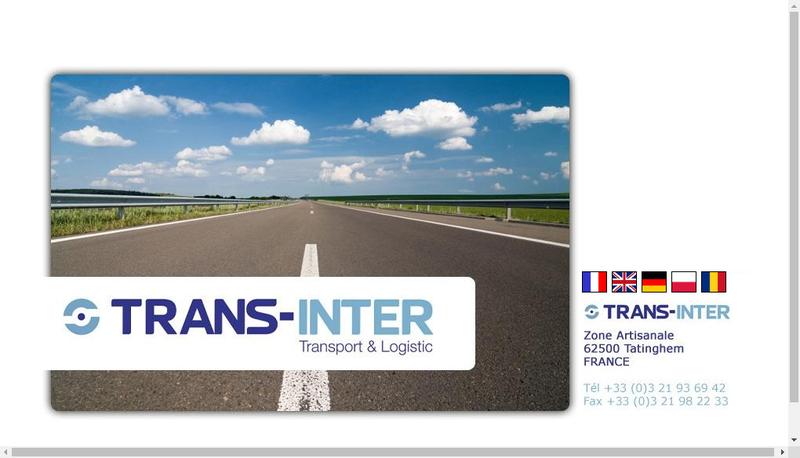 Capture d'écran du site de Trans Inter