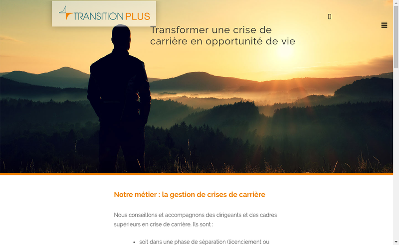 Capture d'écran du site de Transition Plus