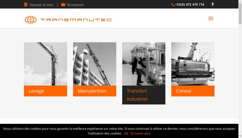 Capture d'écran du site de Transmanutec