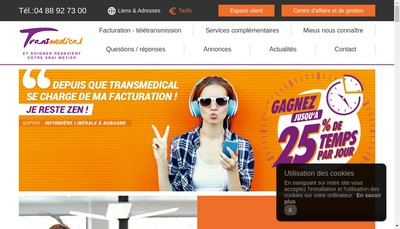 Site internet de Transmedical