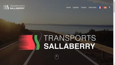 Site internet de Transports Sallaberry