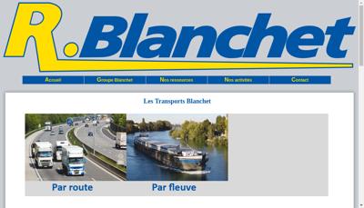 Capture d'écran du site de R Blanchet