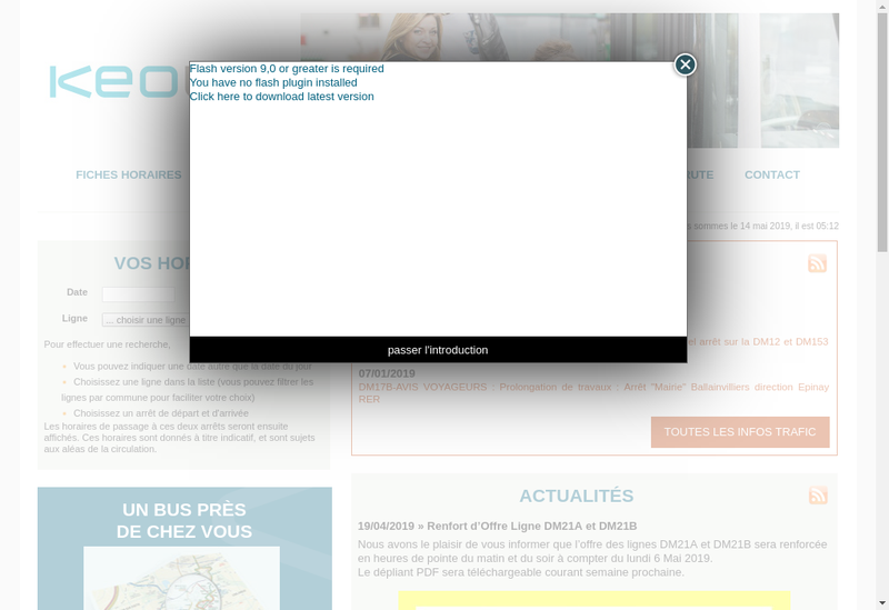 Capture d'écran du site de Transports Daniel Meyer