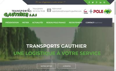 Site internet de Gauthier Transports