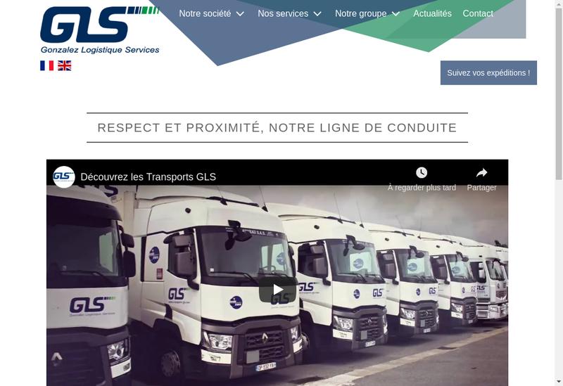 Capture d'écran du site de Gonzalez Logistique Services