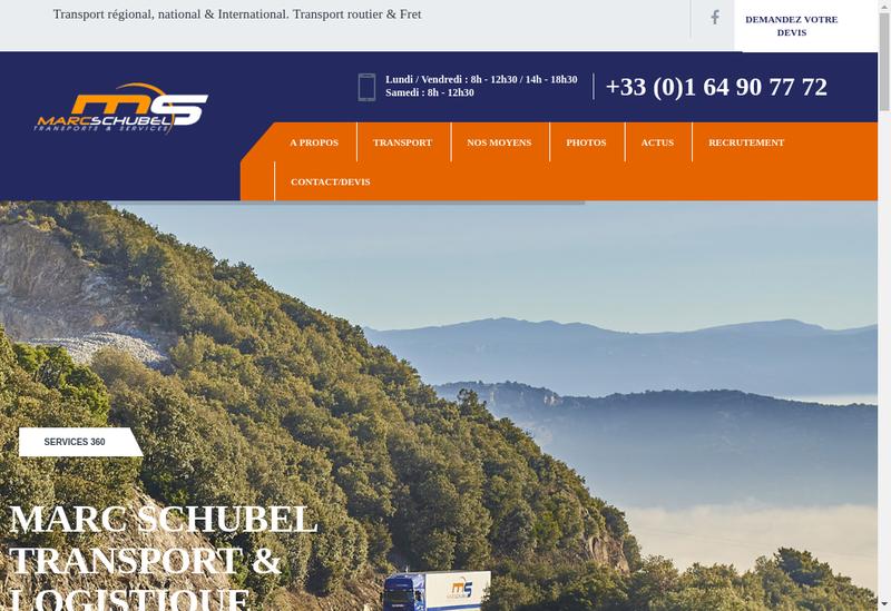 Capture d'écran du site de Marc Schubel SA