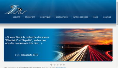 Capture d'écran du site de SITS