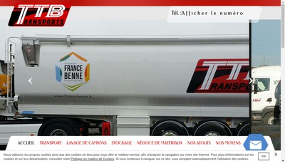 Site internet de Ttb Transport