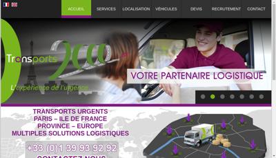 Capture d'écran du site de Transport 2000
