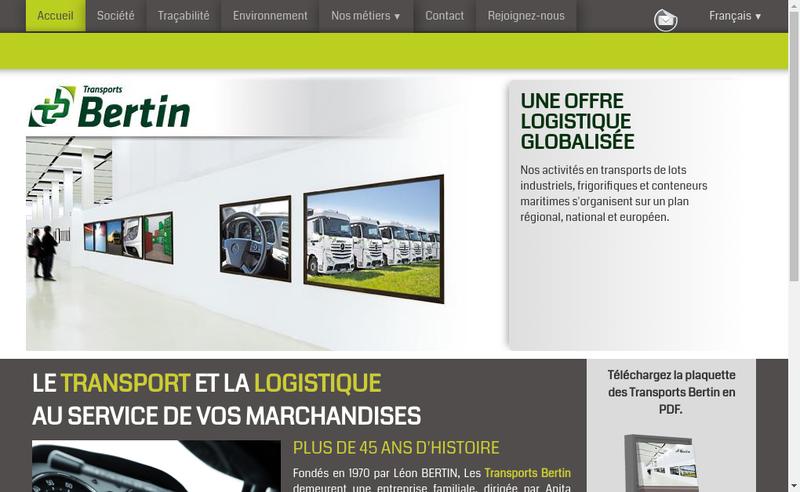 Capture d'écran du site de Transports Leon Bertin