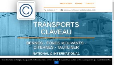 Site internet de Transport Claveau