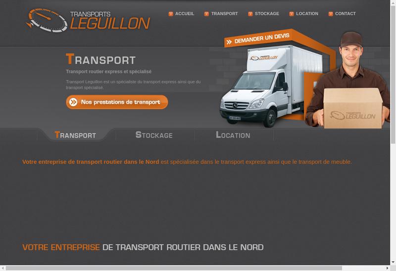 Capture d'écran du site de Transports Leguillon