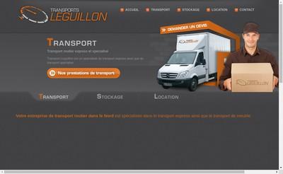 Site internet de Transports Leguillon