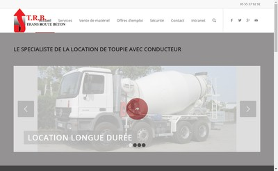 Site internet de Trans Route Beton