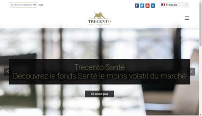 Capture d'écran du site de Trecento Asset Management